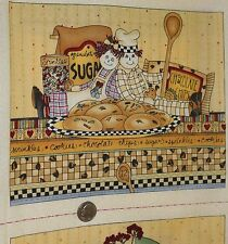 OOP Debbie Mumm The Ragamumm Kids ~100% Cotton Fabric Story Book Panel 16 blocks
