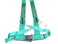 "Takata DRIFT III 4 Point Bolt-On 3"" Racing Seat Belt Harness (Green)"