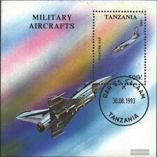 Tanzania Bloque 226 (edición completa) usado 1993 Aviación Militar