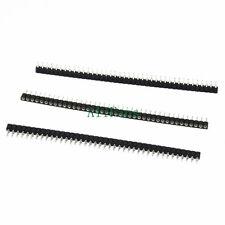 3PCS Strip Tin PCB Female IC Breakable 40pin Single Row Round Header Socket