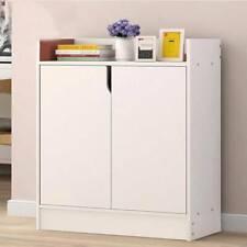 Shoe Cabinet Wooden Storage 2 Door Cupboard Sideboard Footwear Rack Stand Modern
