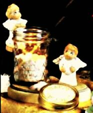 Ceramic Bisque Peppermint Pals Candle Holder ( Angels)- Ready To Paint