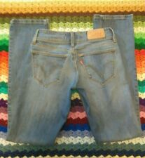 Levis 470 Straight Fit Ripped Distressed Jeans Womens Size 27 x 32