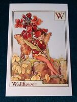 CICELY MARY BARKER FLOWER FAIRIES POSTCARD, THE WALLFLOWER FAIRY, FAIRY ALPHABET
