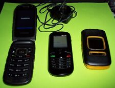 Three (3) Old Cell Phones Read description. Tracfone Alcatel, Pantech, Samsung