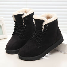 Women Winter Boots Suede Snow Ankle Boots Warm Round Toe Shoes
