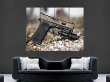 Cartel De Pistola Glock Arte Pared Gigante de imagen grande