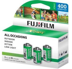 Fujifilm Fujicolor Superia X-TRA 400 Color Negative Film 35mm, 3 Rolls, 108 exp
