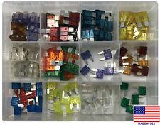 (115) Mini ATM MIN & Standard ATO ATC Blade Fuse Assortment Kit - 3 Amp to 40A