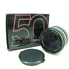 Carl Zeiss Planar T * 50 mm F/1.7 MF Objectif pour Contax/Yashica Coffret-BB -