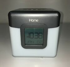 iHome IBT28GC Bluetooth Speaker Color Changing Dual Alarm Clock FM Radio Battery