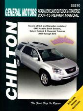 ACADIA GMC SHOP MANUAL SERVICE REPAIR BOOK CHILTON HAYNES GUIDE