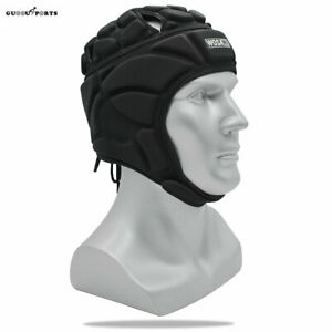 Scrum Cap Rugby Headguard Goalkeeper Helmet Soccer Football Roller Hat Protector