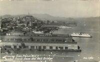 Bay Bridge 1940s San Francisco California Viewing RPPC real photo postcard 8976