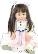 "28"" Reborn Baby Girls Dolls Educational toy a year oldLikelife bebe toys 70cm"