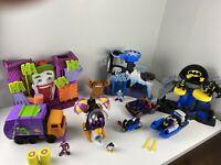 Fisher Price Imaginext Lot of 10 Figures DC Comics - Batman Villains Clay Face