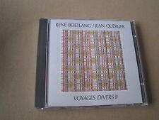 Rene Bottlang & Jean querlier Voyages Taucher 2 Swiss Jazz CD plainisphare