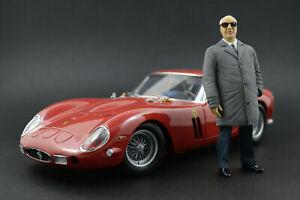 Enzo Ferrari (2) Figure for 1:18 Kyosho F40 250GTO BBR RARE!  !! NO CAR !!