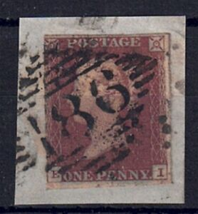 QV penny red SG 8e Guide line clearly shown at bottom  used