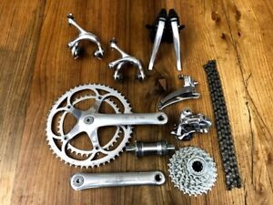 Campagnolo Record 8 speed groupset group set titanium 172.5 MINT