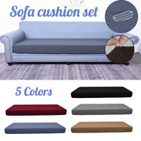 3 Seat Waterproof Stretch Sofa Seat Cushion Cover Couch Slipcover Protector Soft