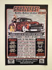 GREAZEFEST Kustom Kulture Festival 2014 Promo Poster A2 Brisbane Melbourne *NEW*