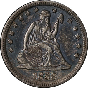 1858-O Seated Liberty Quarter - Scratch Great Deals From The Executive Coin Comp