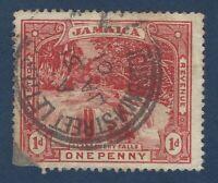 JAMAICA 1D STAMP WITH 1901 KINGSTON STREET LETTER SON POSTMARK