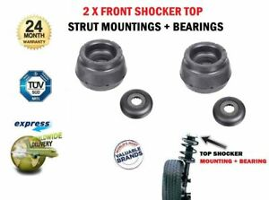 2X FRONT STRUT TOP MOUNTINGS for SEAT IBIZA V SPORTCOUPE 1.2 TSI 2015->on