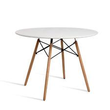 Replica Eames Table White Dining Anti Slip Round Kitchen Wooden Coffee Retro