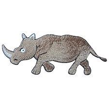Rhinoceros Rhino Safari Wild Zoo Animal Dinosaur Cartoon Iron on Patches #A091