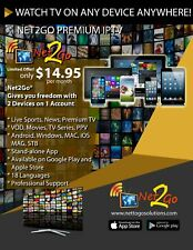 PREMIUM IPTV APP LIVE TV, VOD use 2 devices on ONE subscription 6 months
