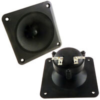 """(2) 3.25"""" x 3.25"""" Piezo Tweeter Car Audio DJ Speaker Super Horn Tweeter 400W"""