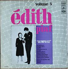 """EDITH PIAF VOL N°5 """"OLYMPIA 62""""  33T  LP"""