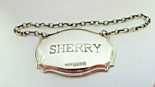 """A plain silver """"SHERRY"""" decanter wine label, 1996"""