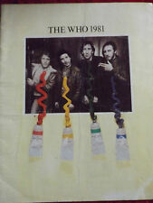 THE WHO 1981 FACE DANCES RARE PROGRAM ROGER DALTREY JOHN ENTWISTLE KENNEY JONES