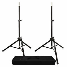 Ultimate Support TS-80B Speaker Stand Pair + Dual Speaker Stand Bag