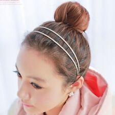 Fashion Ladies Girl Vintage Elastic Hair Band Double Braided Headband Gold