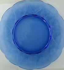 Hazel Atlas Newport Hairpin Dinner Plate Cobalt Blue