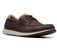 Clarks Men's 26142938 Un Pilot Lace Brown Unstructured Casual Moccasin Shoes