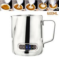 Acier inoxydable café latte lait plat blanc mousse cruche pichet 600ML FW