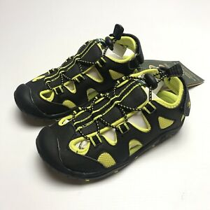 Kamik Unisex Kids Oyster2 UK 1 Closed Toe Sandals Black Yellow Child Summer Eu33
