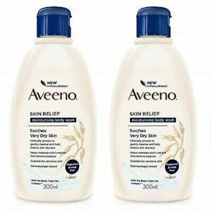 Aveeno Skin Relief Moisturising Body Wash Soothes Very Dry Skin / 2x300ml