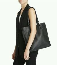 NWT Kenneth Cole Bar Code Leather Tote, Black