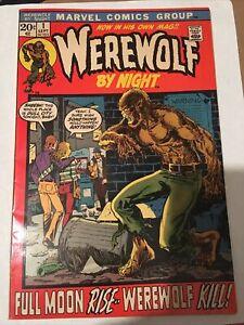 Werewolf By Night 1 Vintage Old Bronze Age Horror 1972 VF