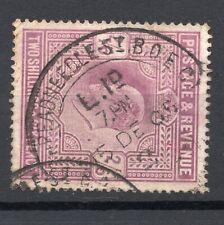 GB KEVII 2/6d definitive 1905 Threadneedle St B O postmark