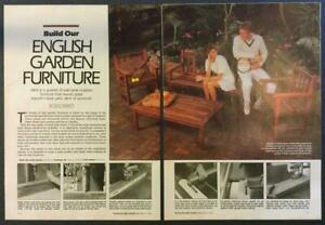 English Garden Furniture Teak 1985 HowTo Build PLANS Chair Bench Table