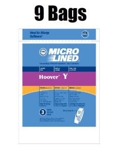 9 Hoover Type Y Vacuum Bags Fits Hoover WindTunnel Upright Vacs by DVC
