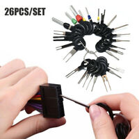Car Electrical Wiring Crimp Connector Pin Extractor Kit 8/18/26Pcs Removal Tools
