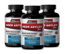 Deer Antler Powder - Deer Antler Plus 550mg - Female Sexual Booster Capsules 3B